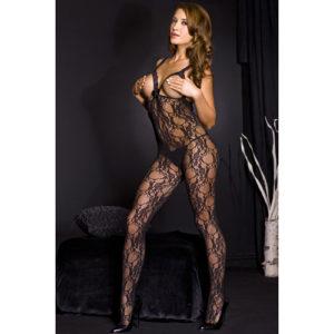 Music Legs Kanten Catsuit – Zwart – Music Legs
