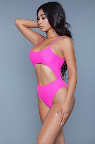 Alina Monokini – Roze – Be Wicked Swimwear