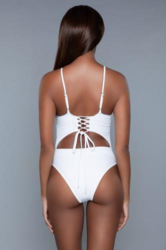 Alina Monokini – Wit – Be Wicked Swimwear