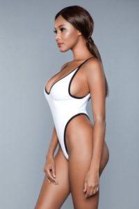 Payton Badpak  – Wit/Zwart – Be Wicked Swimwear