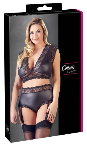Sexy 2-Delige Wetlook BH Set – Curvy – Cottelli Collection
