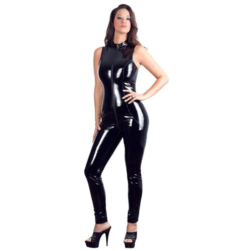 Lak Catsuit Met Rits – Black Level