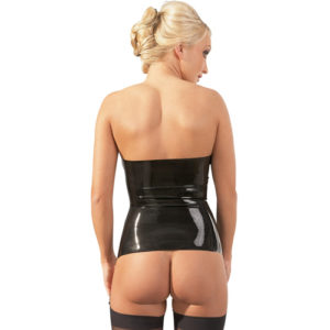 Strapless Latex Jarreteltopje – The Latex Collection