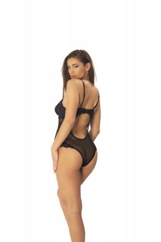 Kanten Body Met Opvallende Achterkant – Zwart – OhLaLa Cheri