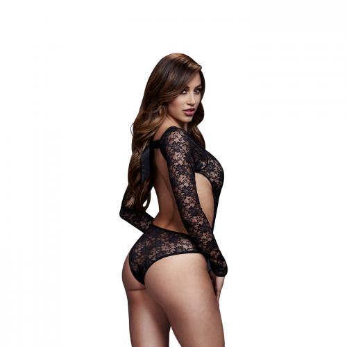 Baci – Kanten Bodysuit Met Open Achterkant – Zwart – Baci Lingerie