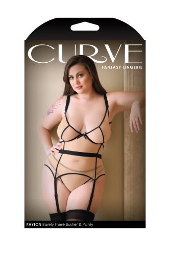 Payton Barely There 3-Delige Jarretelset – Nude/Black – Curve