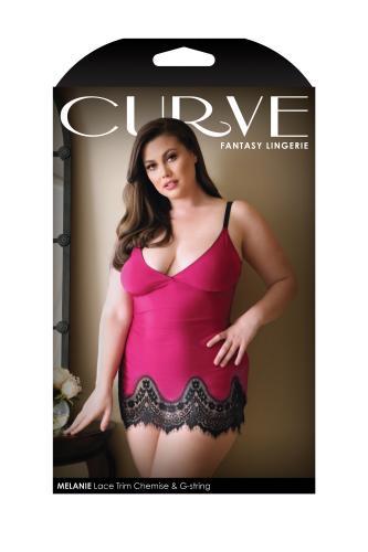 Melanie Jurkje Met String – Raspberry – Curve