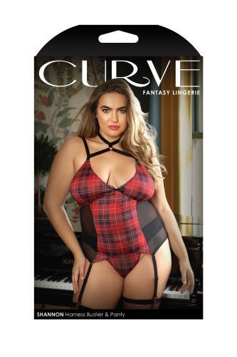 Shannon 2-Delige Jarretellel Set Met Slip – Curvy – Curve