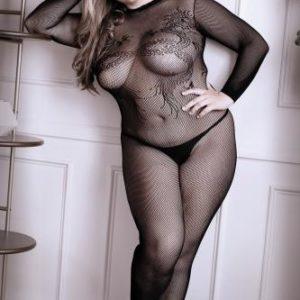 Unleash Me Catsuit Met Open Kruisje – Curvy – Sheer Fantasy