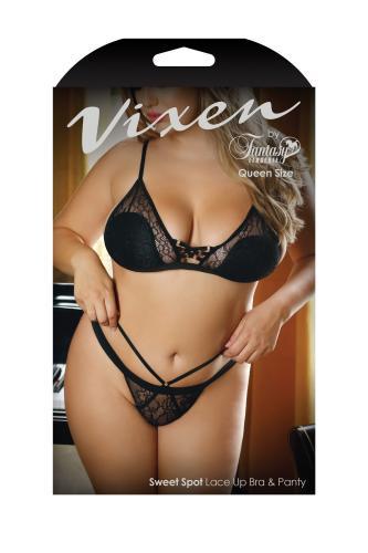 Sweet Spot 2-delige set Met Sexy Belijning – Curvy – Vixen
