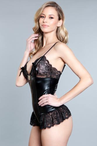 Beatrix Wetlook Body – Black – Be Wicked