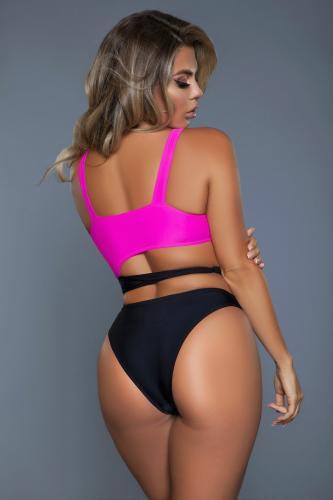 Clara Badpak – Zwart/Roze – Be Wicked Swimwear