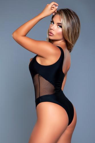 Rowen One Shoulder Badpak – Zwart – Be Wicked Swimwear