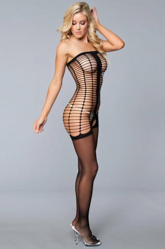 Manipulation Off-Shoulder Catsuit – Zwart – Be Wicked