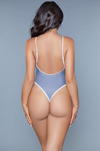 Payton Badpak – Grijs/Wit – Be Wicked Swimwear